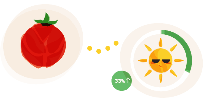 People Who Ate 5 Tablespoons of Tomato Paste a Day Experienced a 33% Increase in Sun Protection.