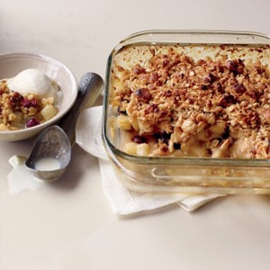 Pear and Cranberry Crisp Recipe