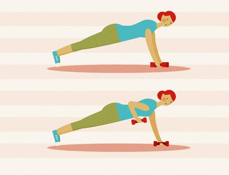 Dumbbell Plank Exercise