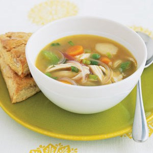 Ginger Chicken Soup With Vegetables Recipe
