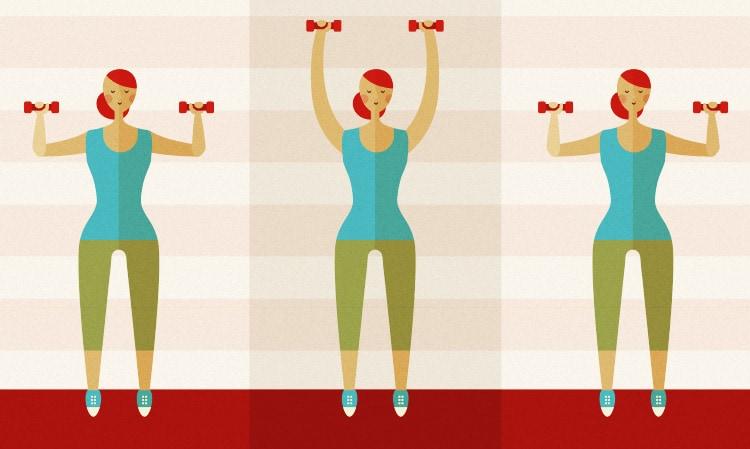 Shoulder Press Exercise