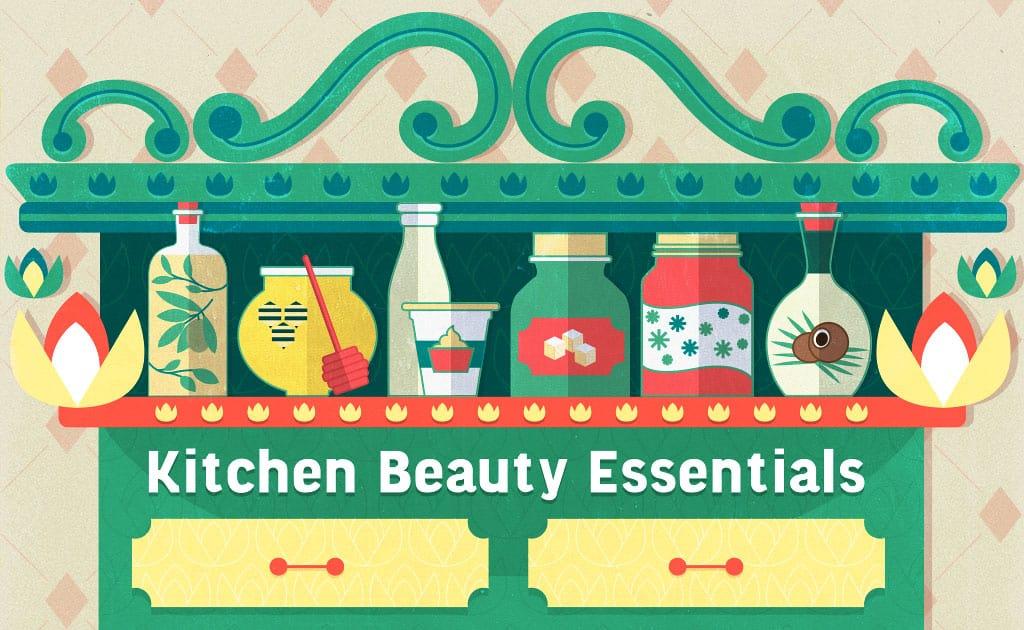 Kitchen Beauty Essentials On Shelf