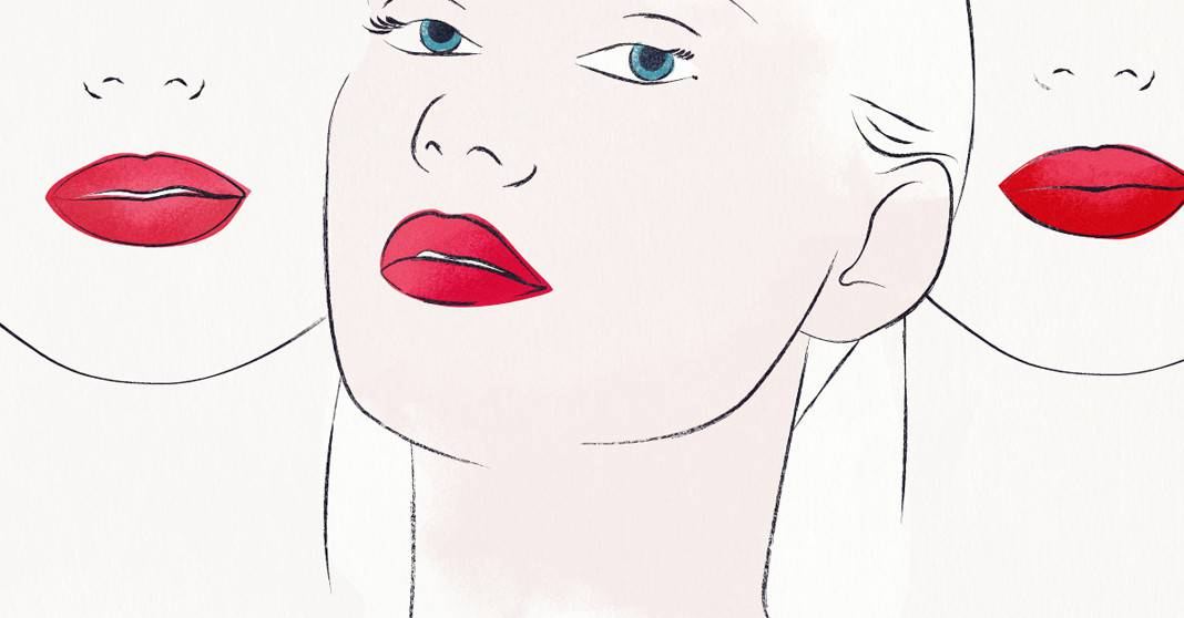 Wearing Red Lipstick Image