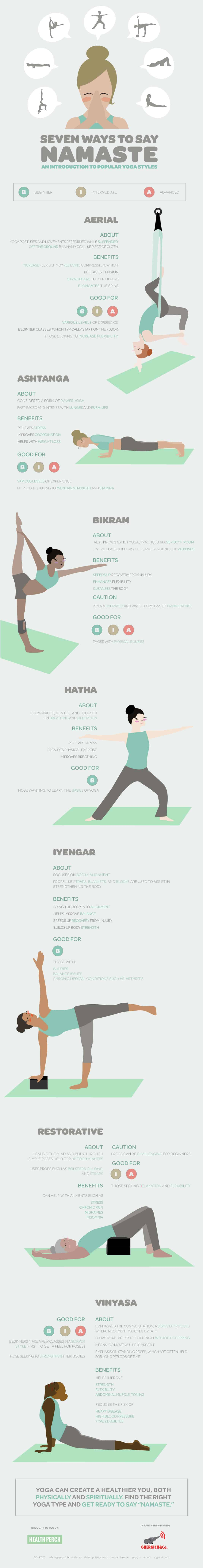 Seven Ways To Say Namaste - An Introduction To Popular Yoga Styles