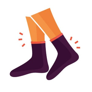 Turn Back the Clock and Wake Up Beautiful: Socks