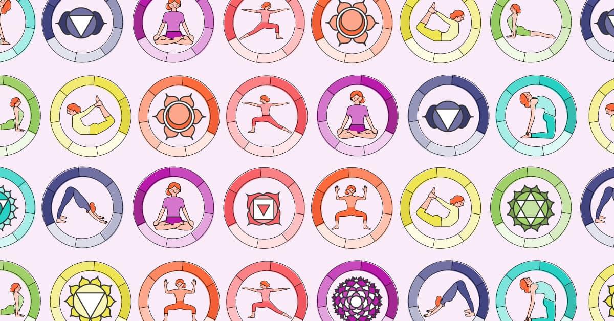 Chakra Poses and Symbols Chart
