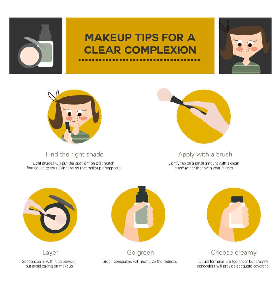 Makeup Tips for a Clear Complection