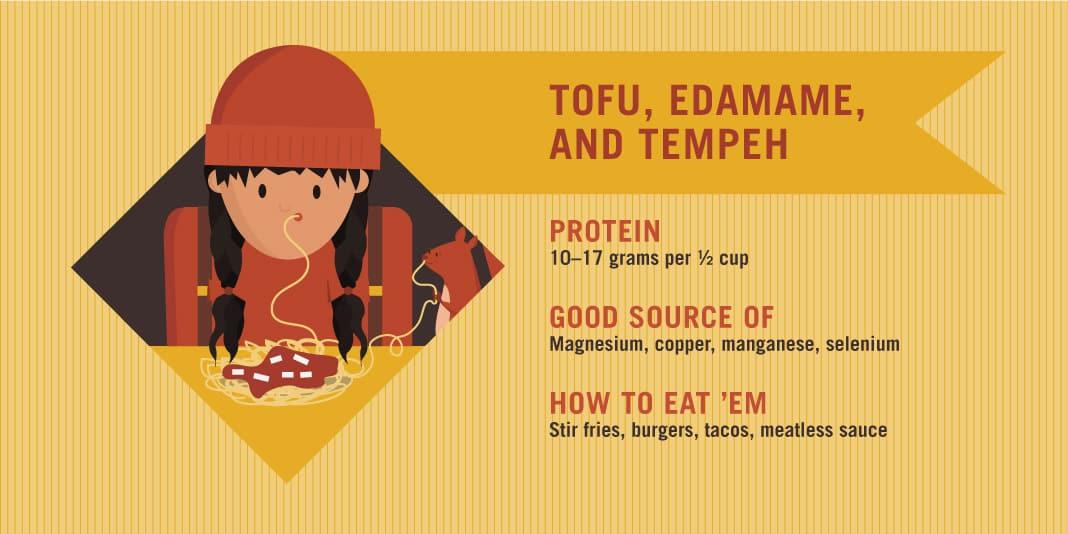 Tofu, Edamame, and Tempeh