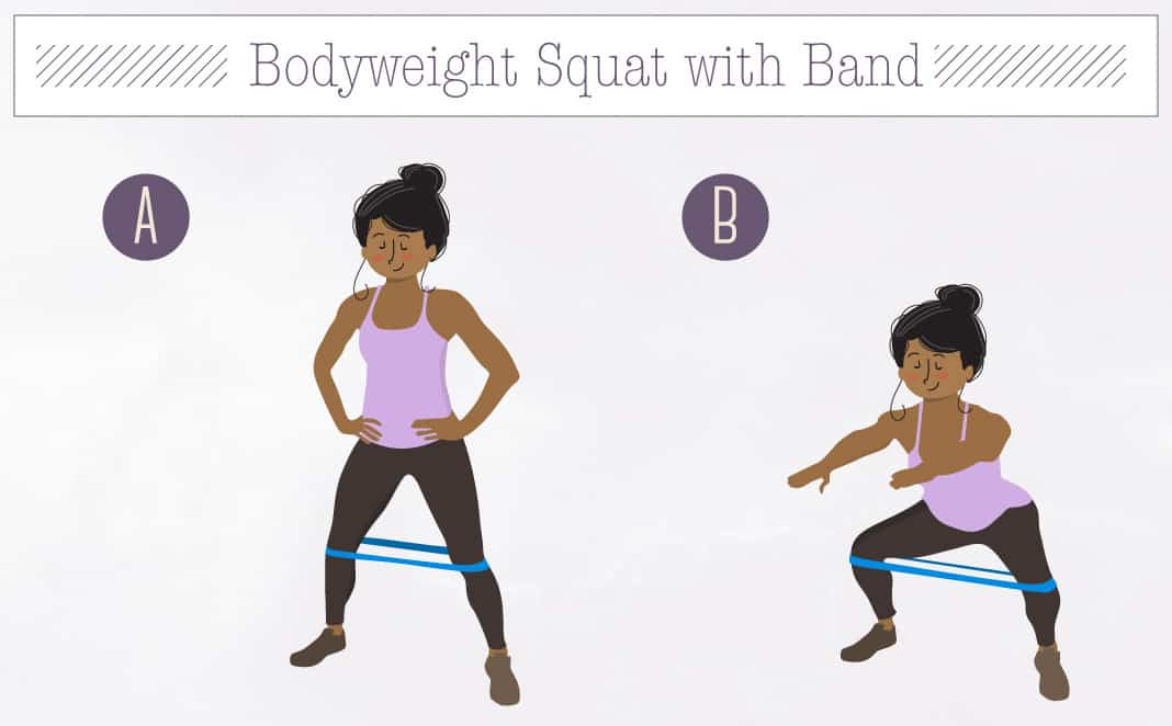 Bodyweight Squat with Band