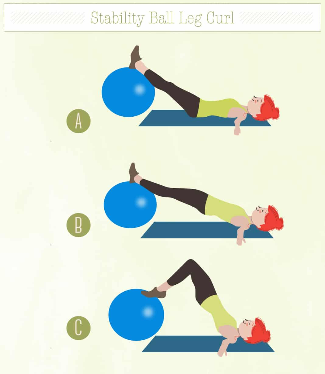 Stability Ball Hamstring Curl T Nation: Sayonara Saddlebags: How To Tone Around Your Tush