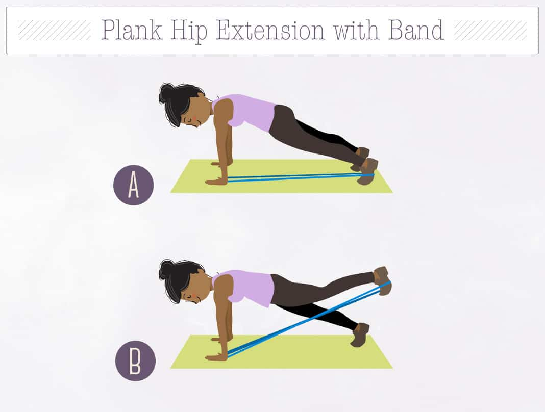 Plank Hip Extension with Band