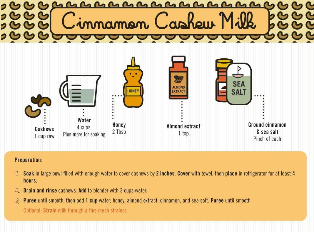 Cinnamon Cashew Milk