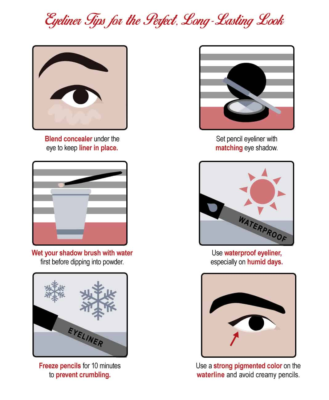 Eyeliner Tips for the Perfect, Long-Lasting Look