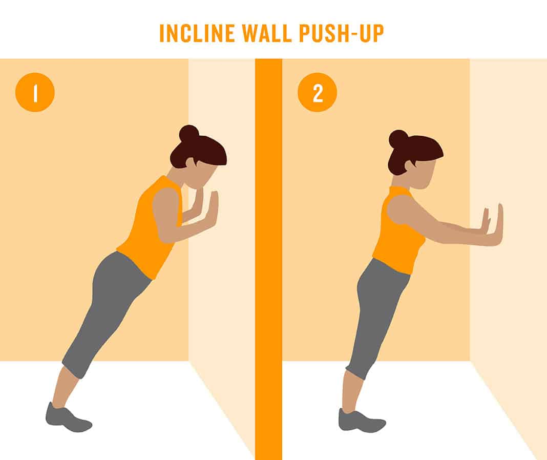 Incline Wall Push-Up