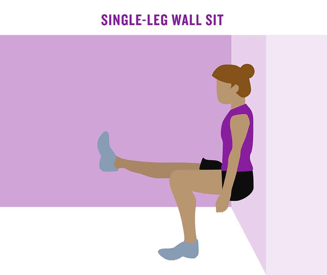 Single-Leg Wall Sit