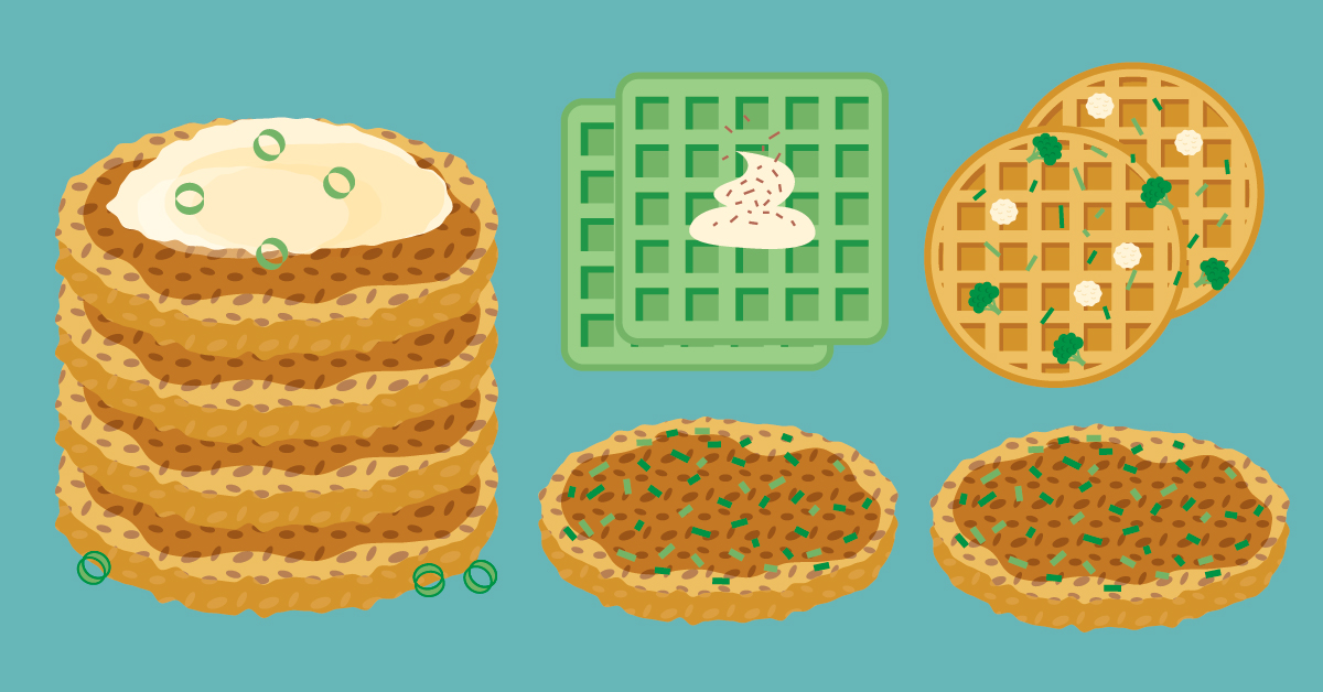 Try These 8 Healthy, Savory Waffles and Pancakes for Breakfast, Lunch, or Dinner