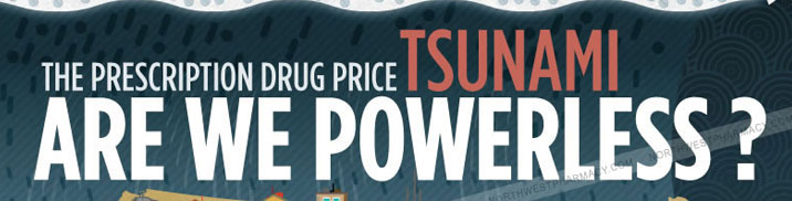 Prescription Drug Price Tsunami Infographic